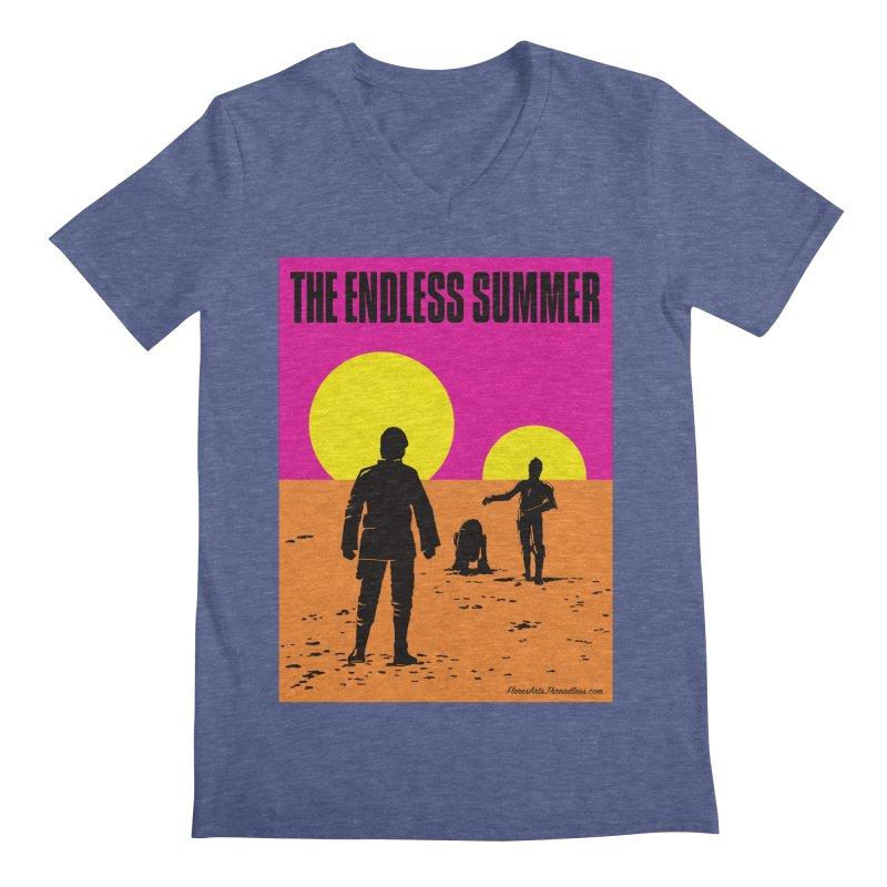 The Endless Summer Men's Regular V-Neck by FloresArts