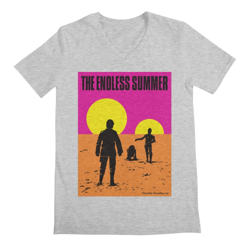 The Endless Summer Men's Regular V-Neck by FloresArts