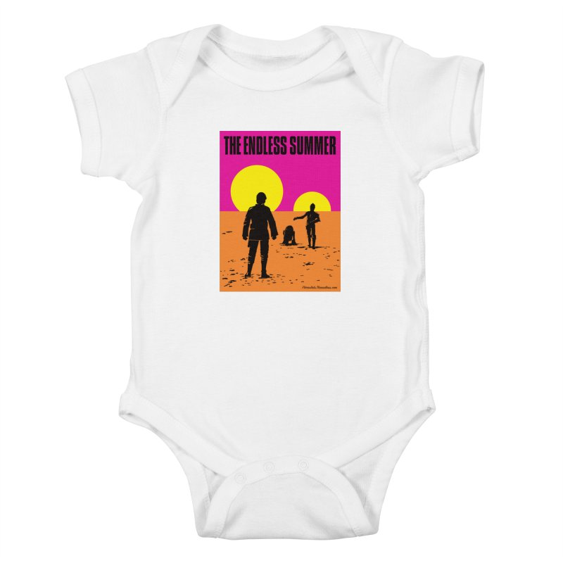The Endless Summer Kids Baby Bodysuit by FloresArts