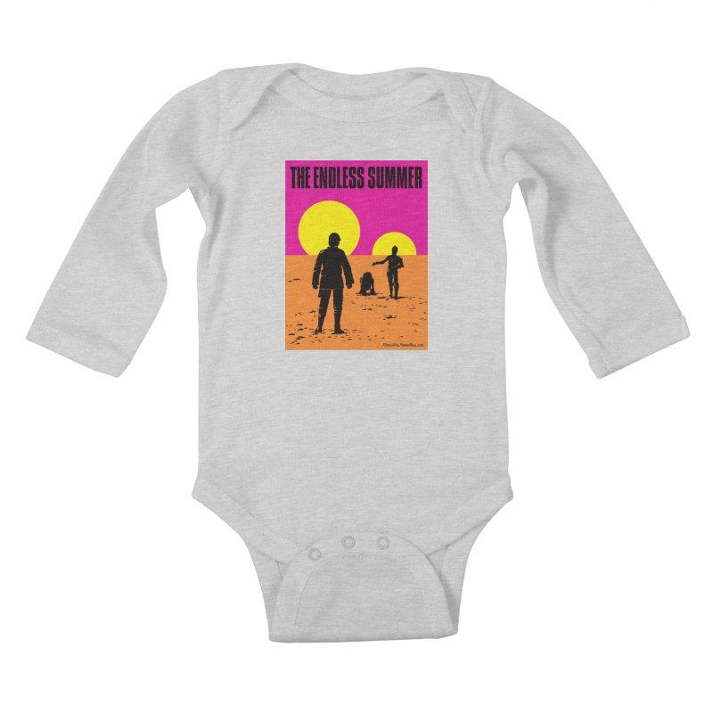 The Endless Summer Kids Baby Longsleeve Bodysuit by FloresArts