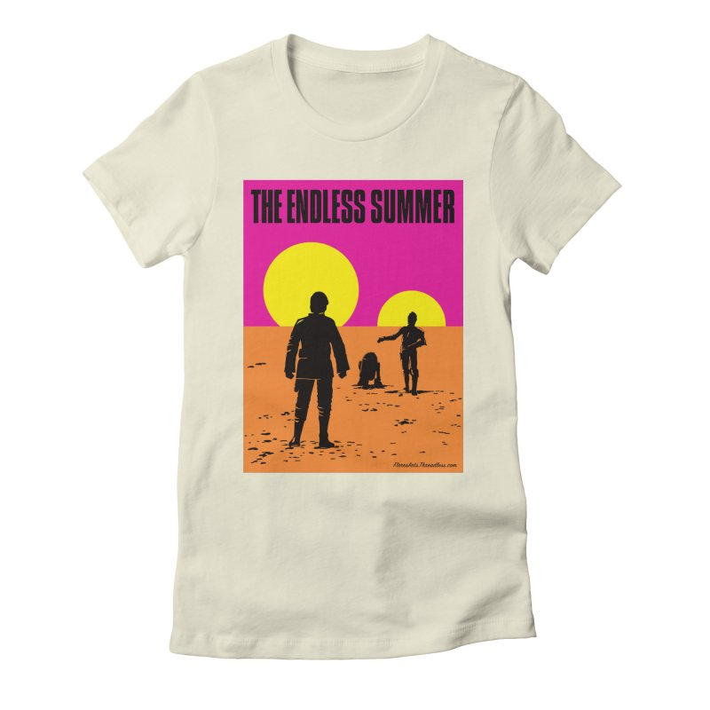 The Endless Summer Women's Fitted T-Shirt by FloresArts