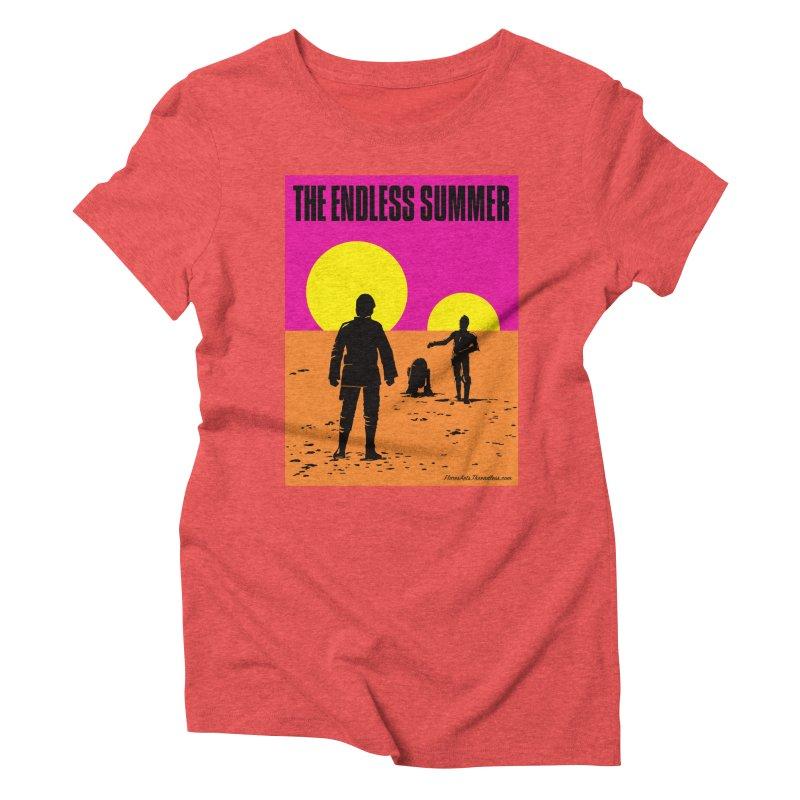 The Endless Summer Women's Triblend T-Shirt by FloresArts
