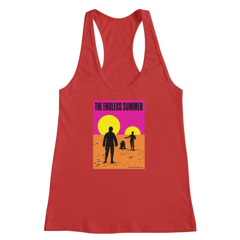 The Endless Summer Women's Racerback Tank by FloresArts