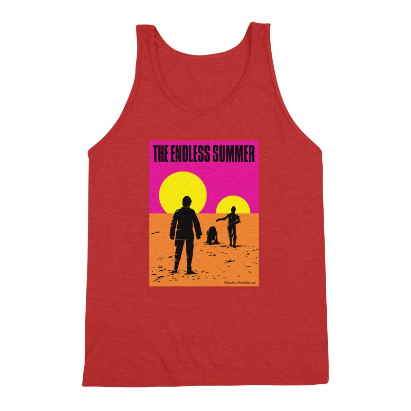 The Endless Summer Men's Triblend Tank by FloresArts