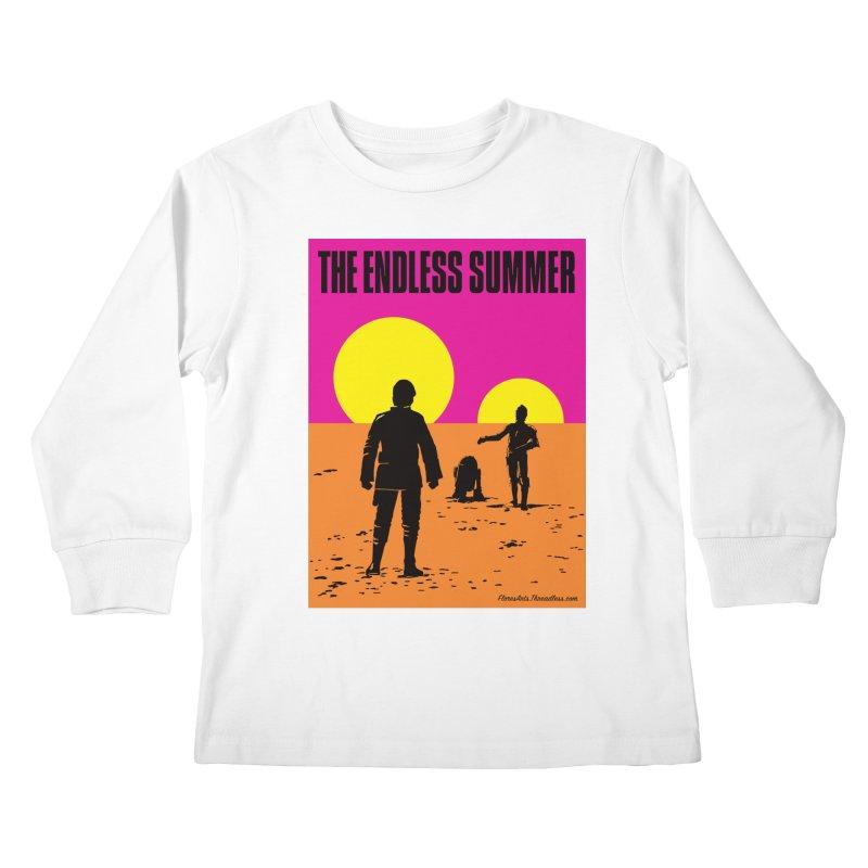 The Endless Summer Kids Longsleeve T-Shirt by FloresArts