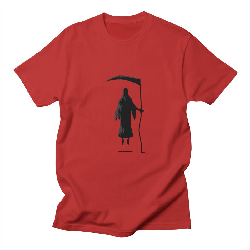 Death in Men's T-shirt Red by FLOREY