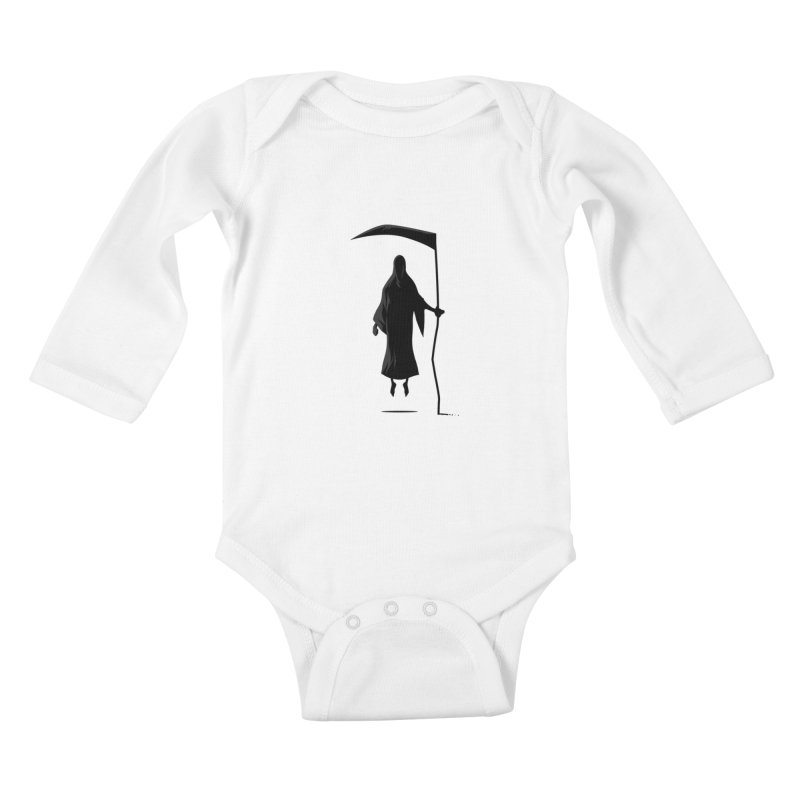 Death Kids Baby Longsleeve Bodysuit by FLOREY