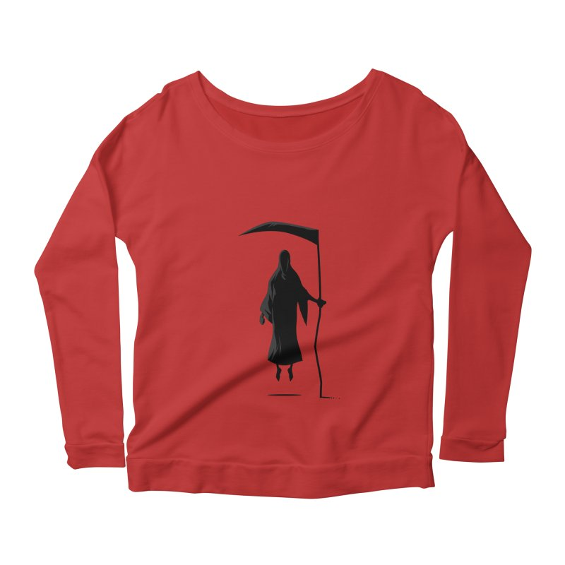 Death Women's Longsleeve Scoopneck  by FLOREY