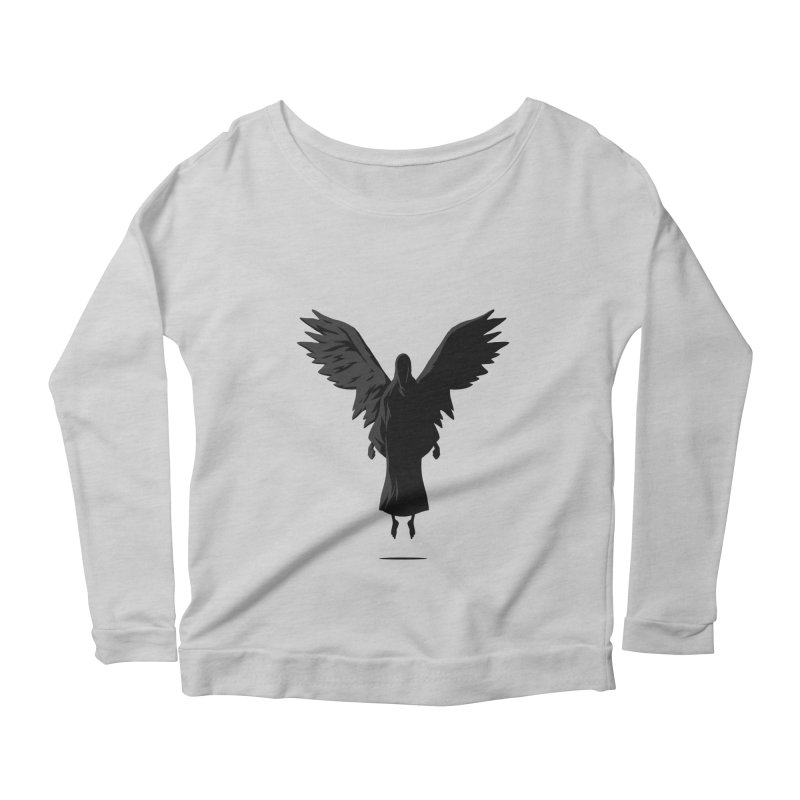 Angel of Death Women's Longsleeve Scoopneck  by FLOREY