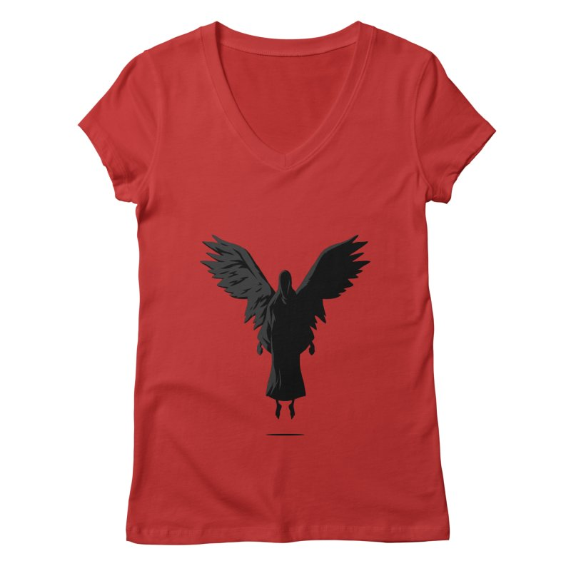 Angel of Death Women's V-Neck by FLOREY
