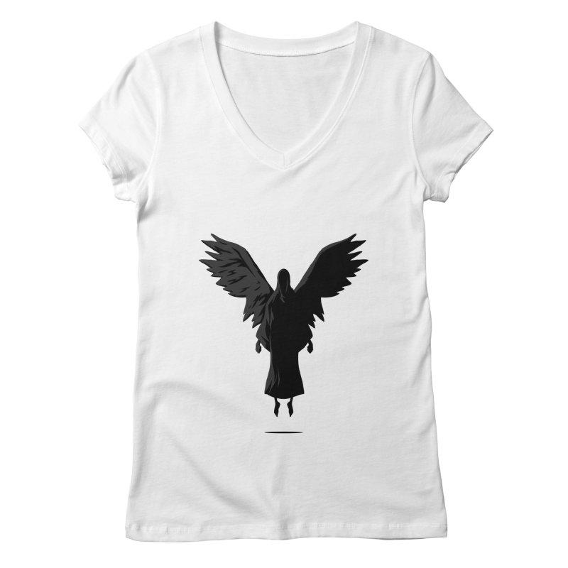 Angel of Death Women's V-Neck by FLOREY