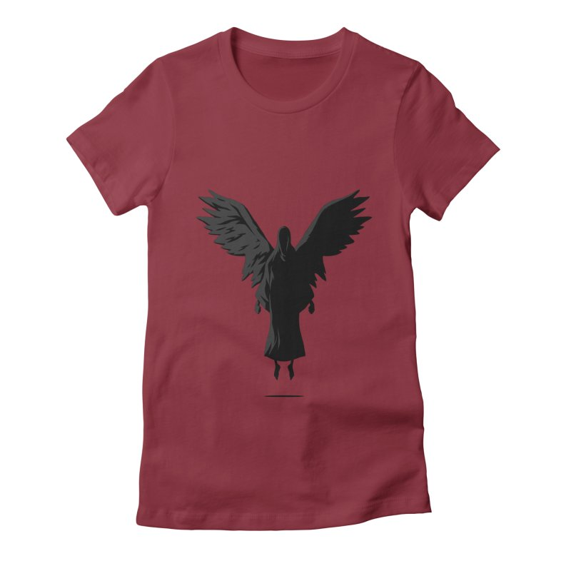 Angel of Death Women's Fitted T-Shirt by FLOREY