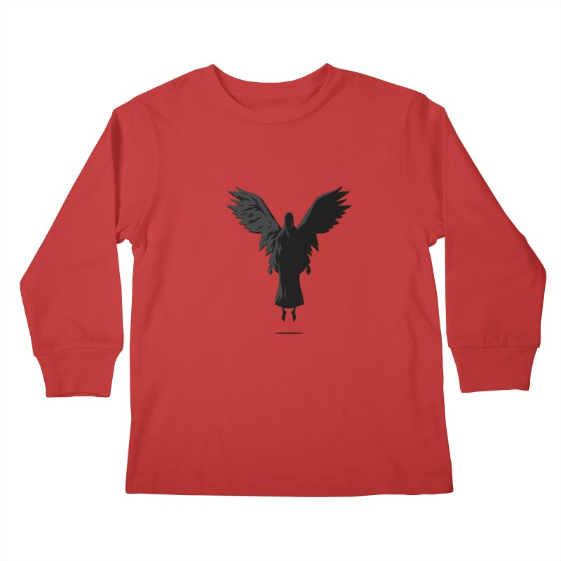 Angel of Death Kids Longsleeve T-Shirt by FLOREY