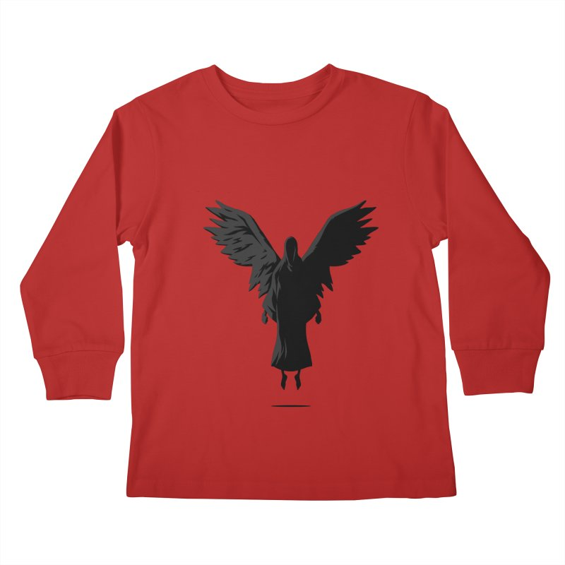 Angel of Death Kids Longsleeve T-Shirt by FLOREY