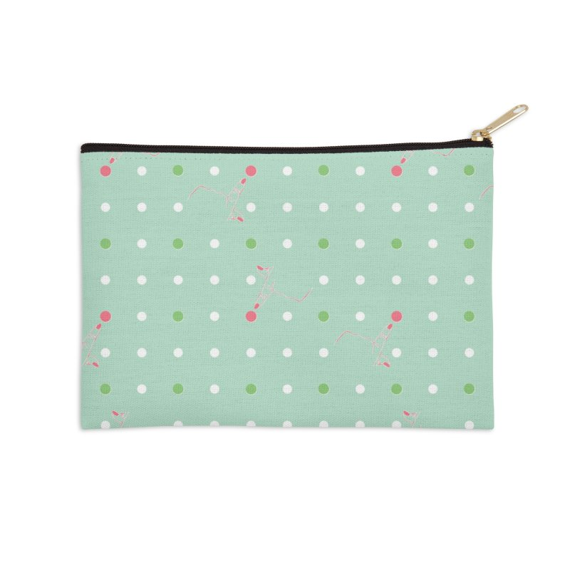 Poke-a-dot Green Pattern Accessories Zip Pouch by Flourish & Flow's Artist Shop