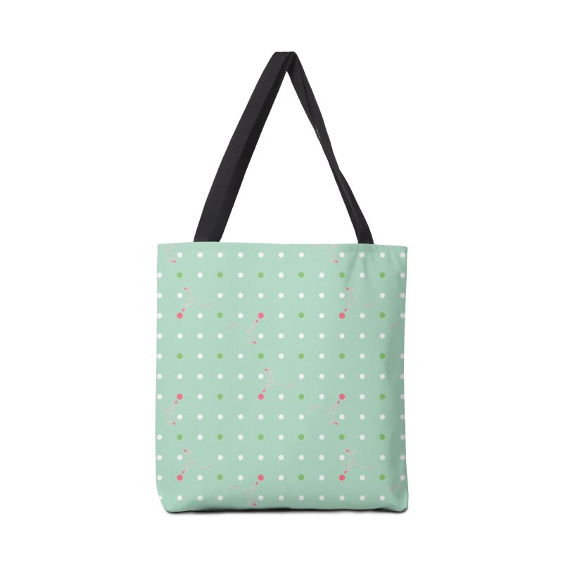 Poke-a-dot Green Pattern Accessories Bag by Flourish & Flow's Artist Shop