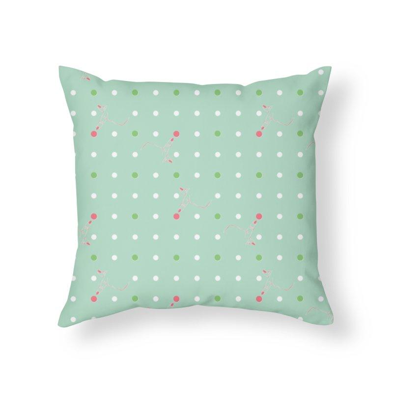 Poke-a-dot Green Pattern Home Throw Pillow by Flourish & Flow's Artist Shop