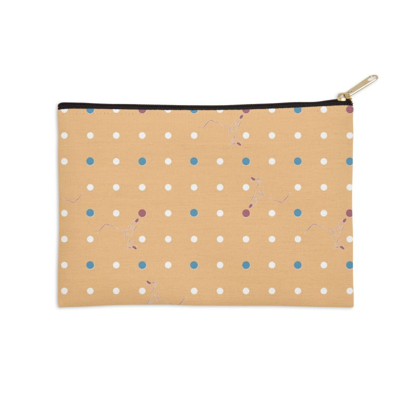 Canary Yellow Poke-a-dot Pattern Accessories Zip Pouch by Flourish & Flow's Artist Shop
