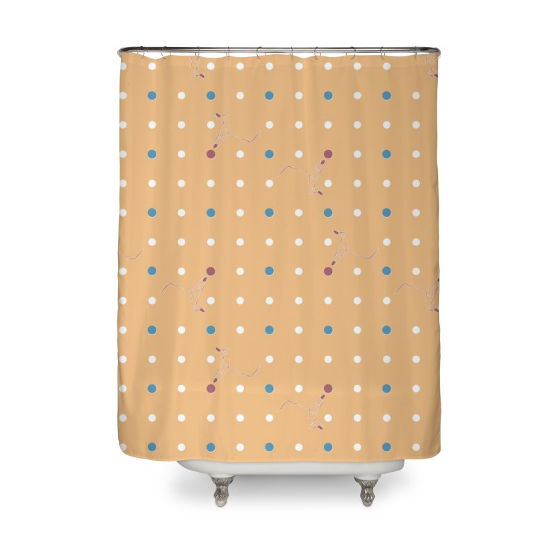 Canary Yellow Poke-a-dot Pattern Home Shower Curtain by Flourish & Flow's Artist Shop