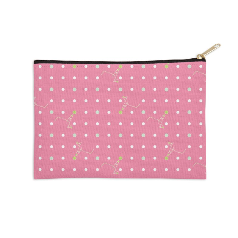 Pink Poke-a-dot Pattern Accessories Zip Pouch by Flourish & Flow's Artist Shop