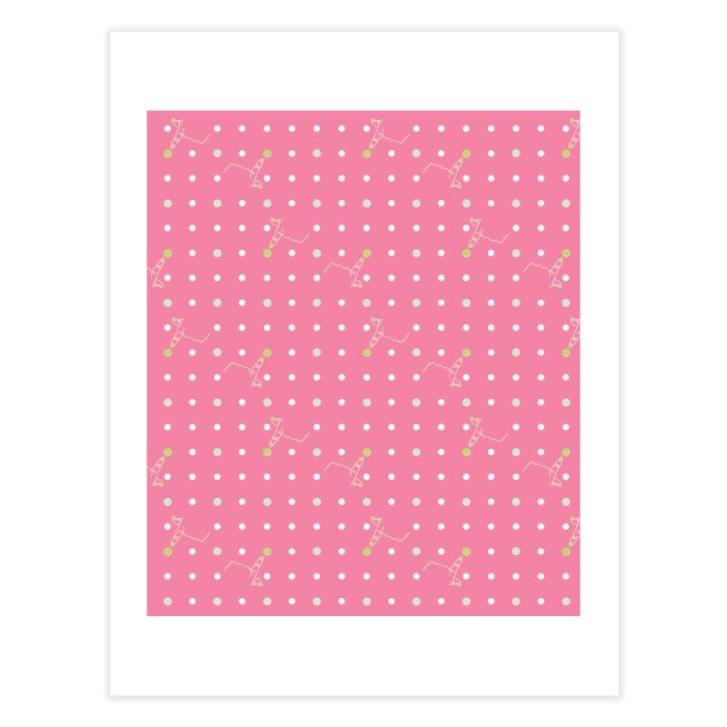 Pink Poke-a-dot Pattern Home Fine Art Print by Flourish & Flow's Artist Shop