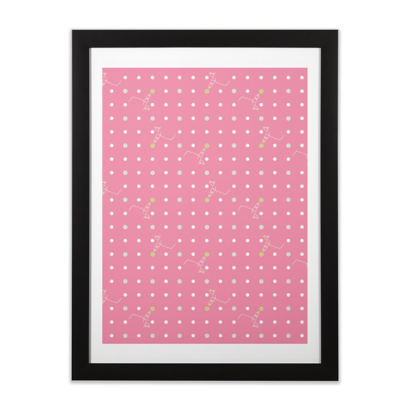 Pink Poke-a-dot Pattern Home Framed Fine Art Print by Flourish & Flow's Artist Shop