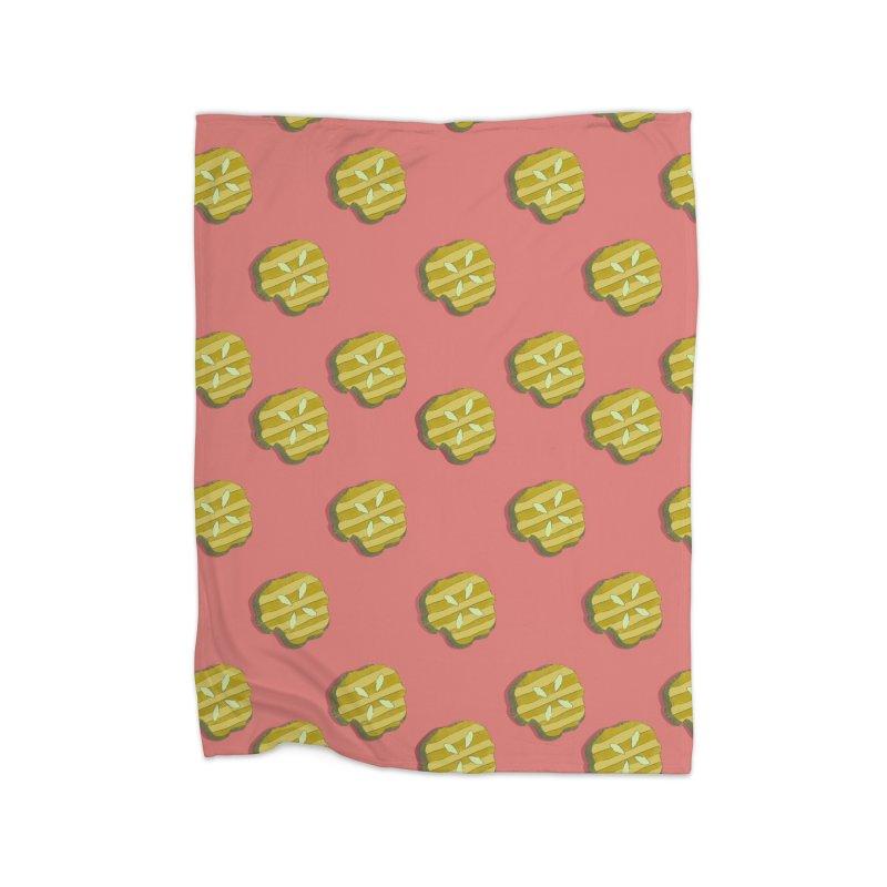 Retro Pink Pickle Pattern Home Blanket by Flourish & Flow's Artist Shop