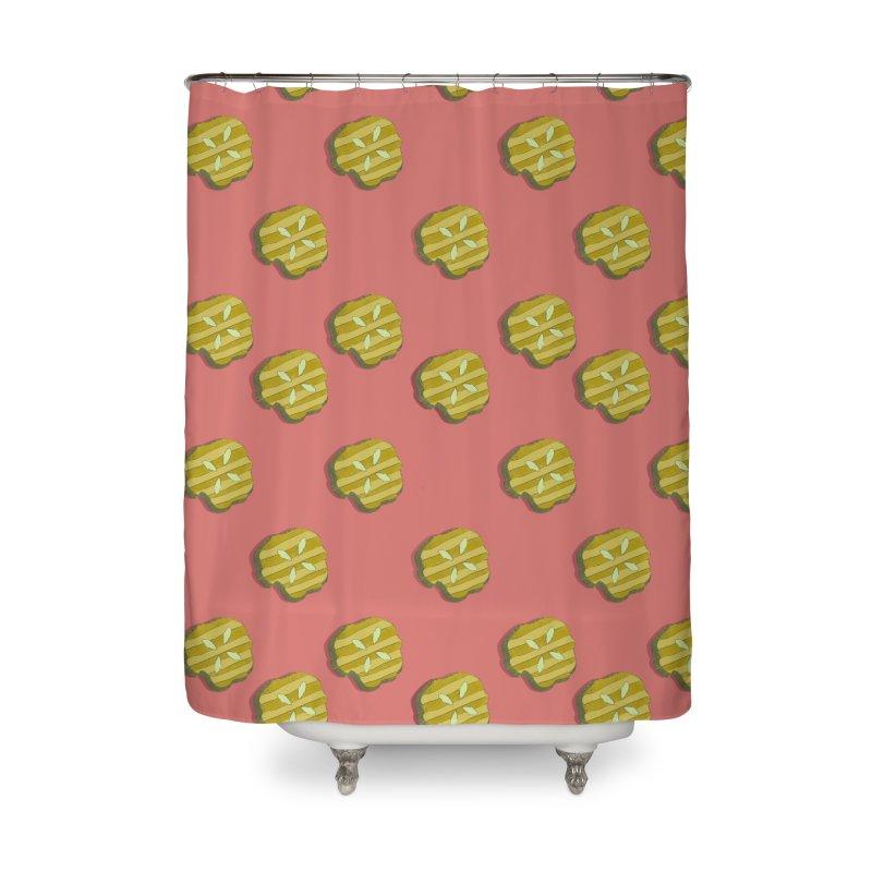 Retro Pink Pickle Pattern Home Shower Curtain by Flourish & Flow's Artist Shop