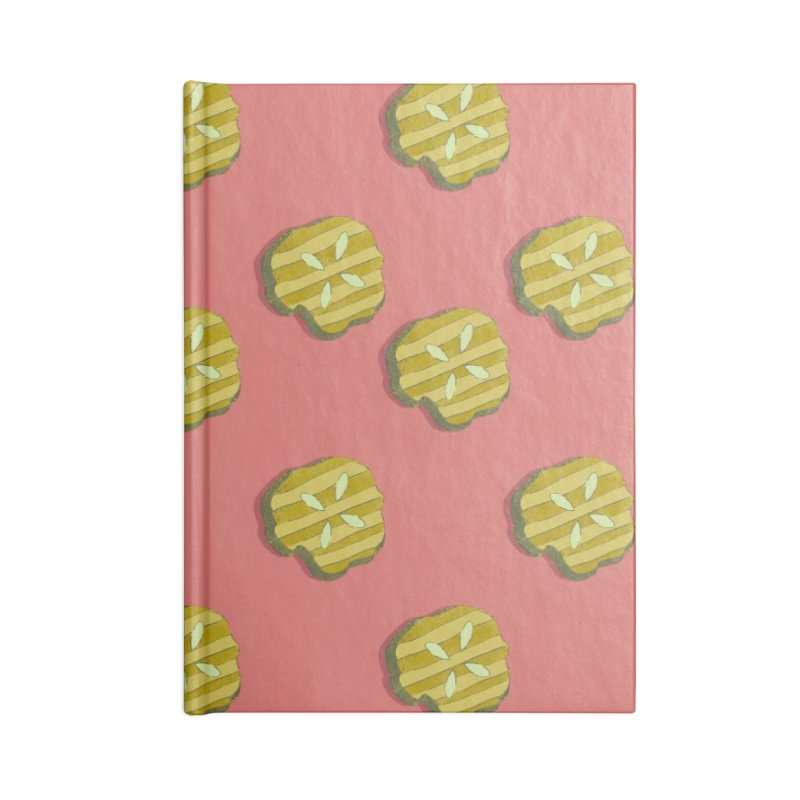 Retro Pink Pickle Pattern Accessories Notebook by Flourish & Flow's Artist Shop
