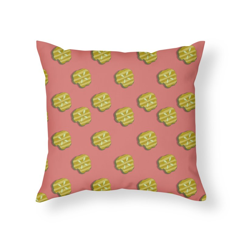 Retro Pink Pickle Pattern Home Throw Pillow by Flourish & Flow's Artist Shop