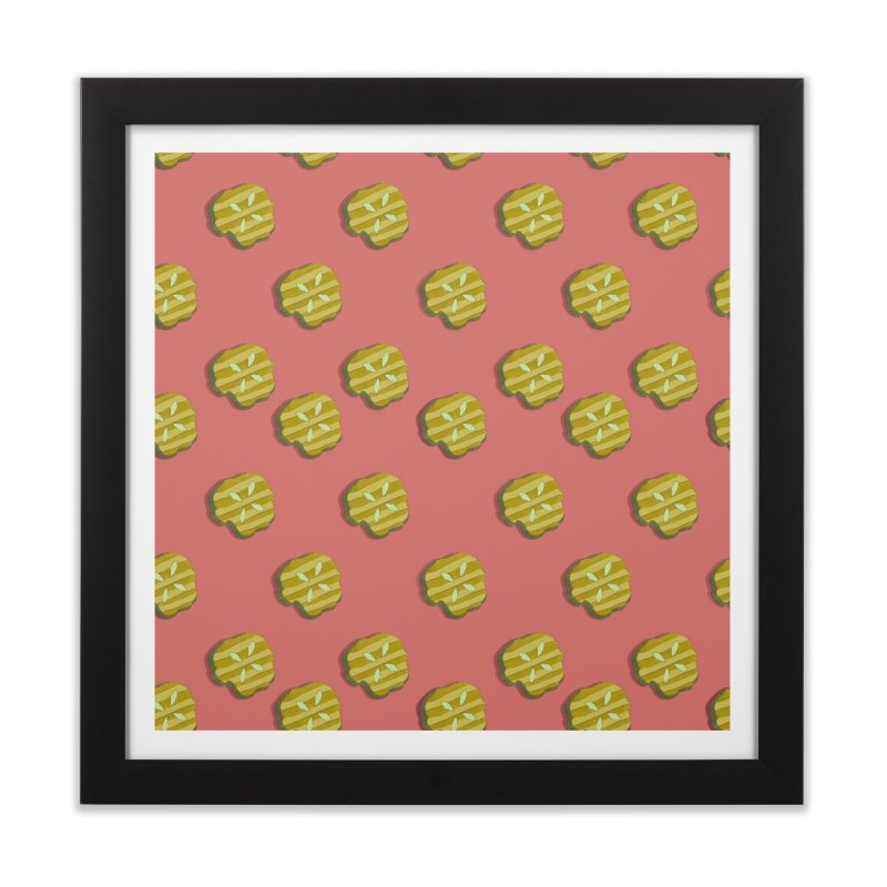 Retro Pink Pickle Pattern Home Framed Fine Art Print by Flourish & Flow's Artist Shop