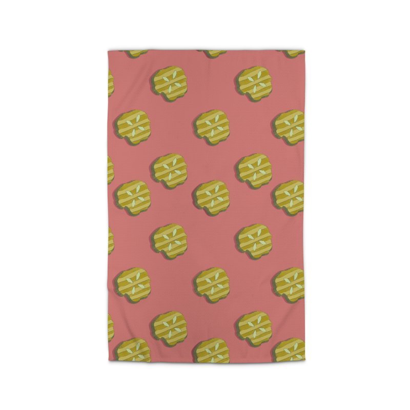 Retro Pink Pickle Pattern Home Rug by Flourish & Flow's Artist Shop