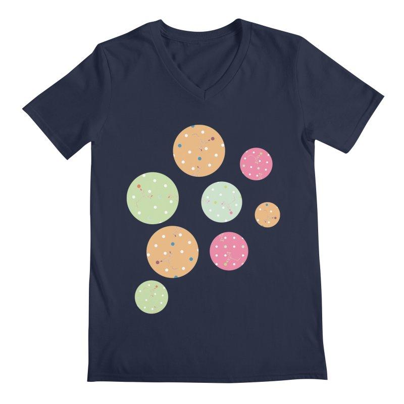 Poke-a-dot in a dot Men's V-Neck by Flourish & Flow's Artist Shop