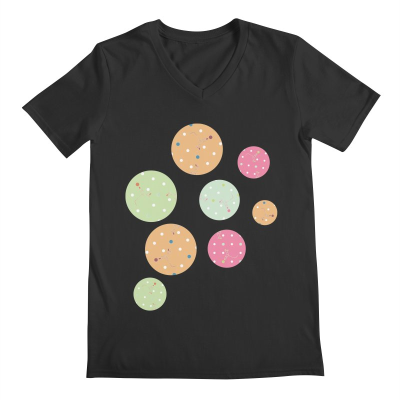 Poke-a-dot in a dot Men's V-Neck by Flourish & Flow's Artist Shop