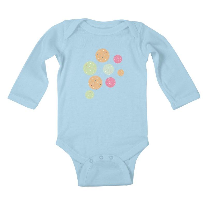 Poke-a-dot in a dot Kids Baby Longsleeve Bodysuit by Flourish & Flow's Artist Shop