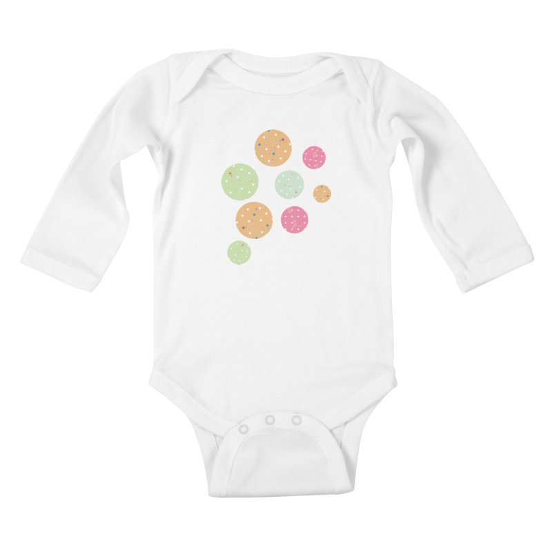 Poke-a-dot in a dot Kids Baby Longsleeve Bodysuit by Flourish & Flow's Artist Shop