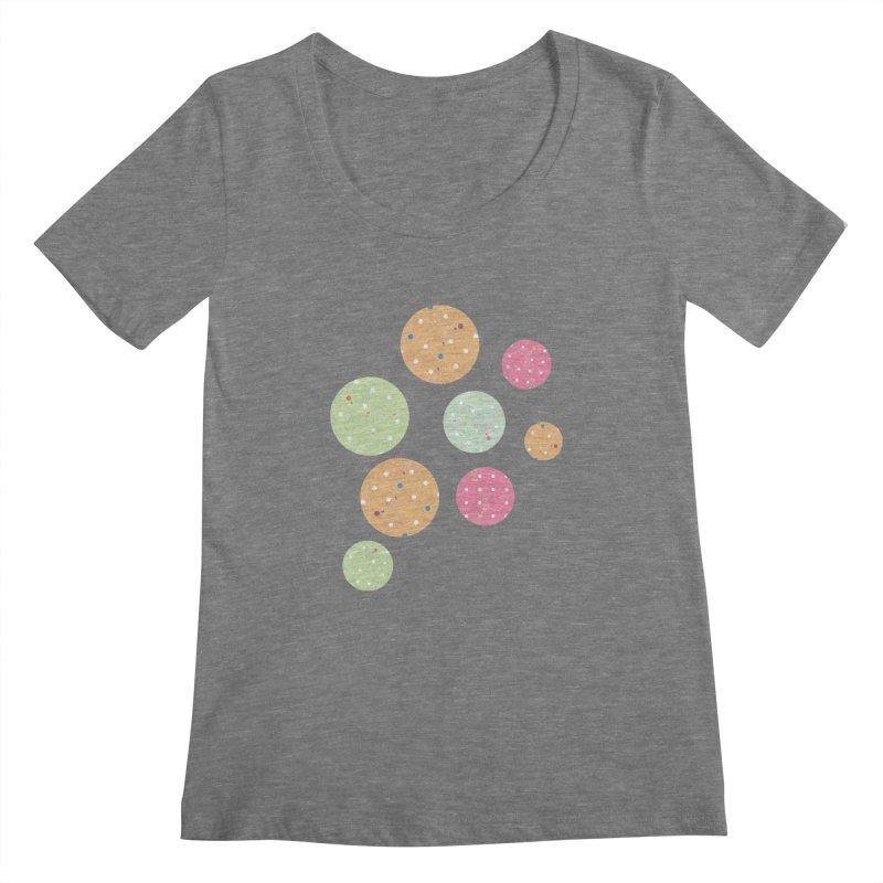 Poke-a-dot in a dot Women's Scoopneck by Flourish & Flow's Artist Shop