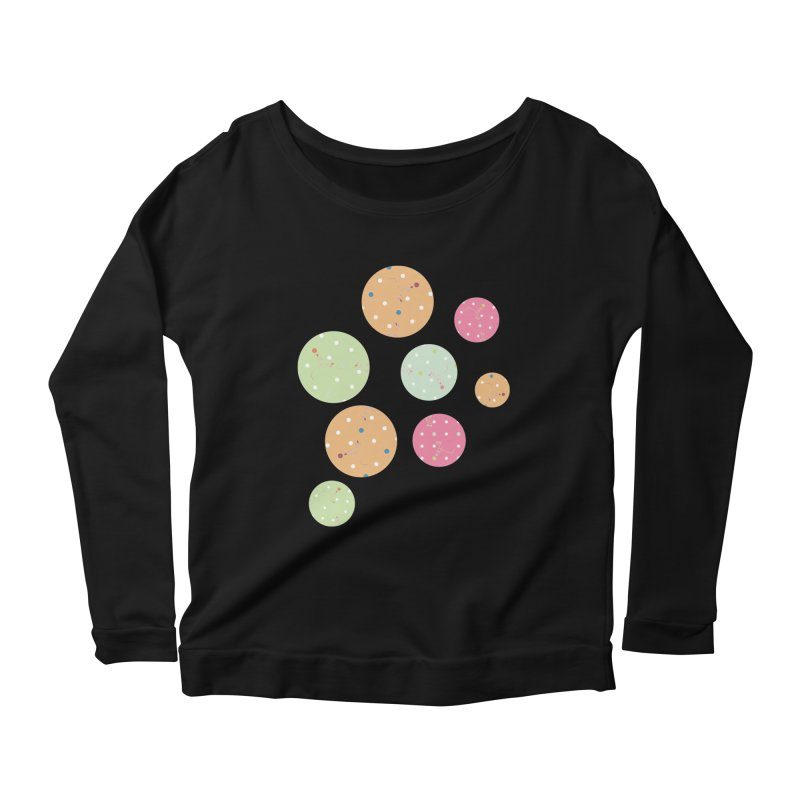 Poke-a-dot in a dot Women's Longsleeve Scoopneck  by Flourish & Flow's Artist Shop