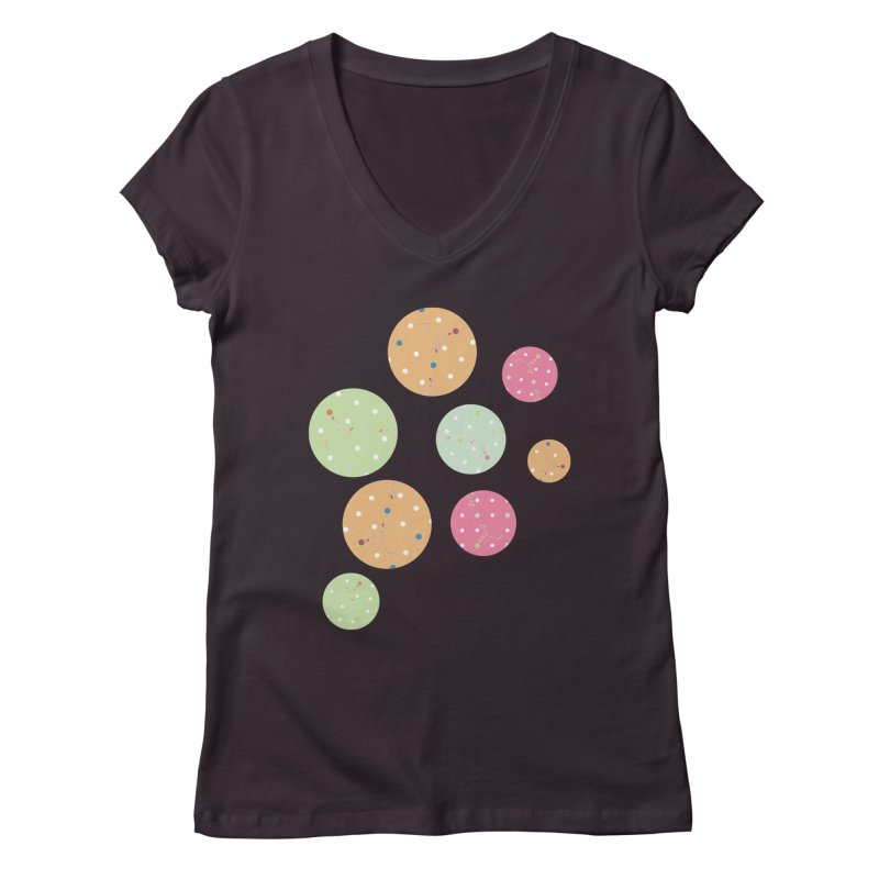 Poke-a-dot in a dot Women's V-Neck by Flourish & Flow's Artist Shop