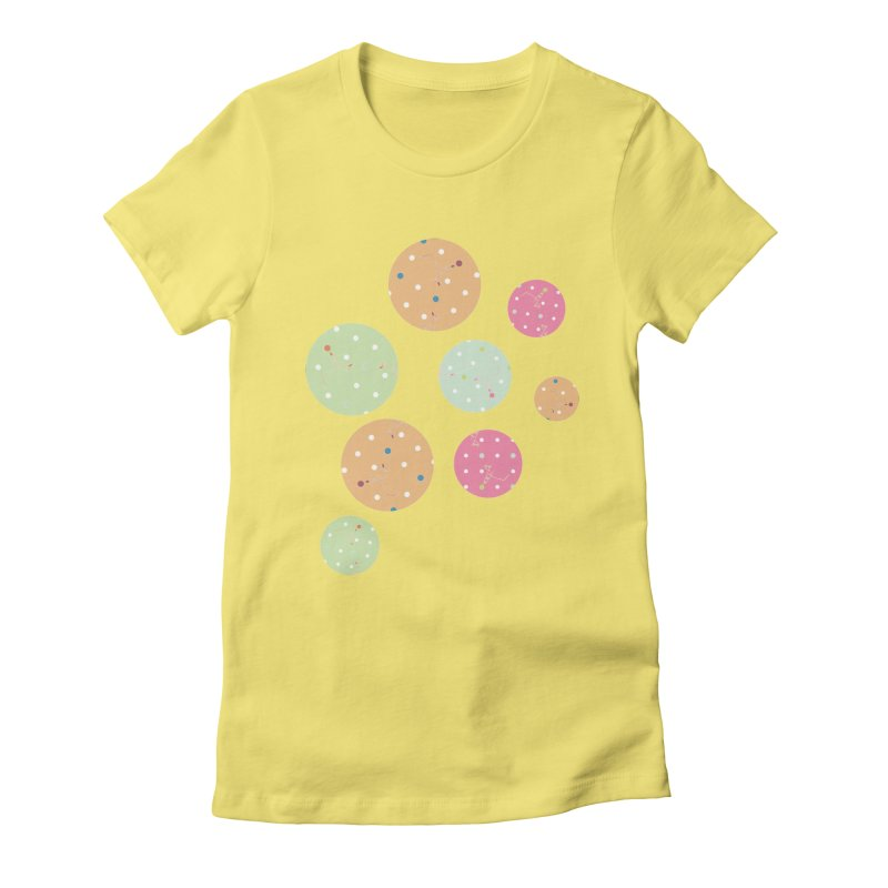 Poke-a-dot in a dot Women's Fitted T-Shirt by Flourish & Flow's Artist Shop