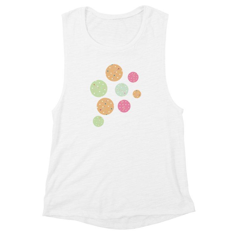 Poke-a-dot in a dot Women's Muscle Tank by Flourish & Flow's Artist Shop