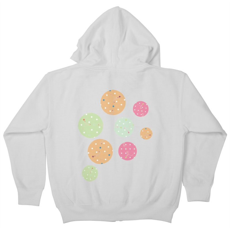 Poke-a-dot in a dot Kids Zip-Up Hoody by Flourish & Flow's Artist Shop
