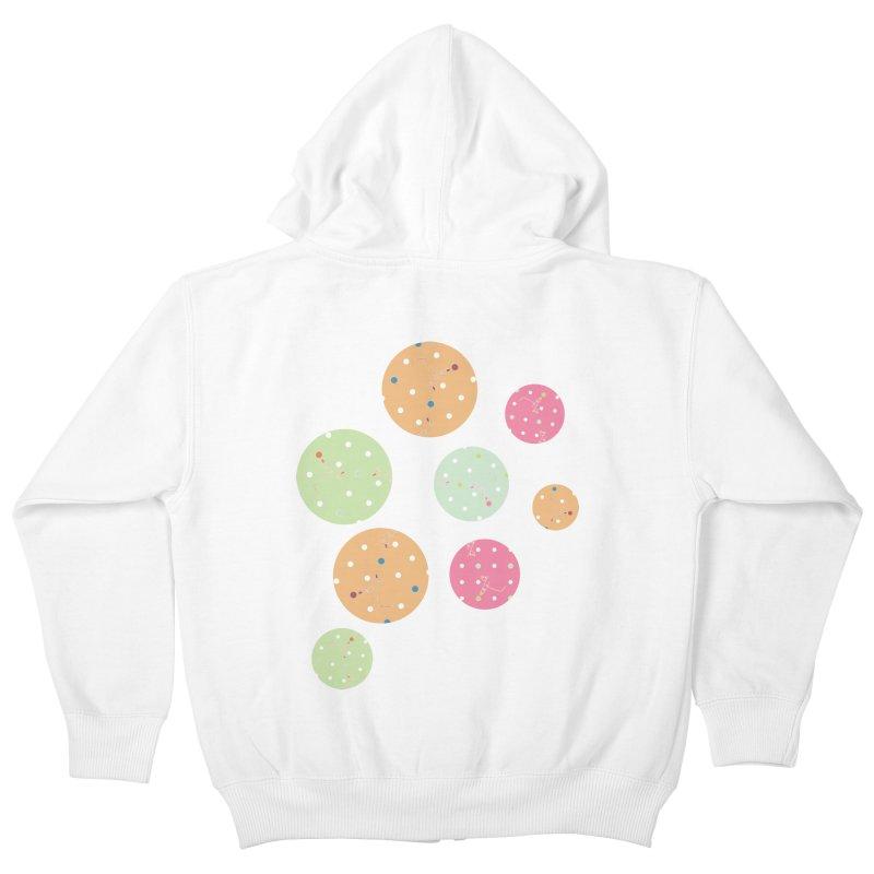 Poke-a-dot in a dot Kids Zip-Up Hoody by Flourish & Flow's Artist Shop