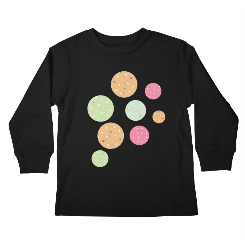 Poke-a-dot in a dot Kids Longsleeve T-Shirt by Flourish & Flow's Artist Shop