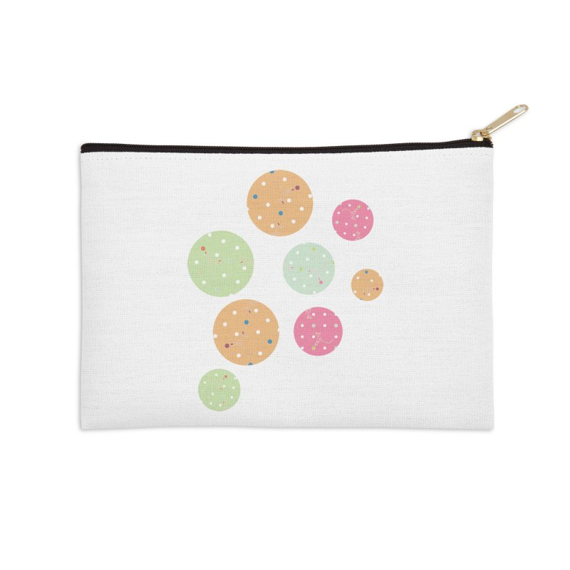 Poke-a-dot in a dot Accessories Zip Pouch by Flourish & Flow's Artist Shop