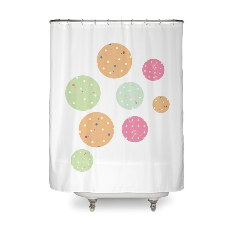 Poke-a-dot in a dot Home Shower Curtain by Flourish & Flow's Artist Shop