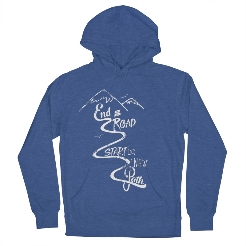 End of the Road Journey Adventure Shirt White Men's Pullover Hoody by Flourish & Flow's Artist Shop