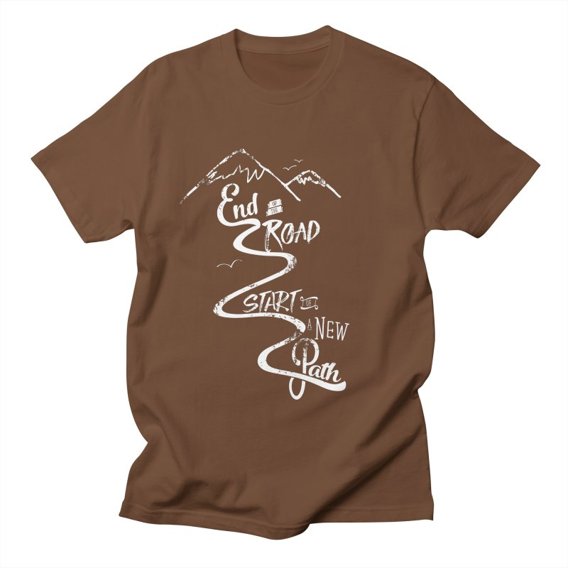 End of the Road Journey Adventure Shirt White Women's Unisex T-Shirt by Flourish & Flow's Artist Shop