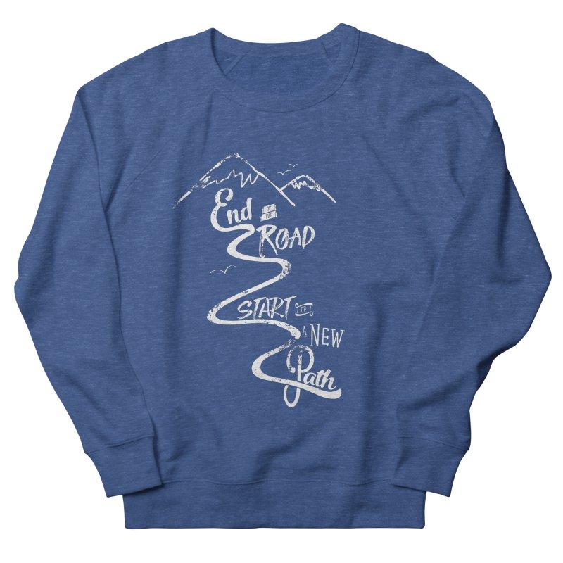 End of the Road Journey Adventure Shirt White Men's Sweatshirt by Flourish & Flow's Artist Shop