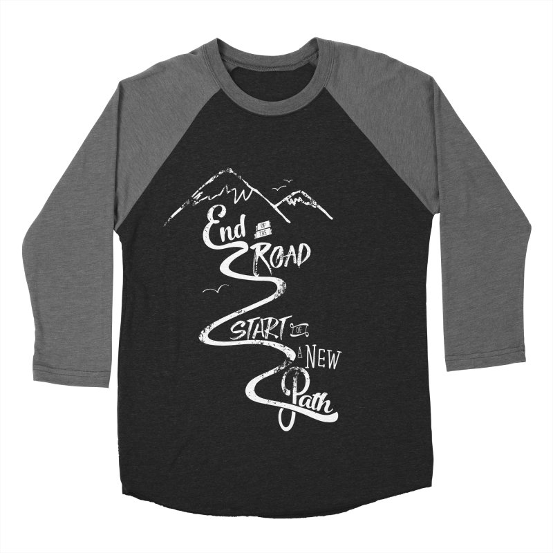 End of the Road Journey Adventure Shirt White Men's Baseball Triblend T-Shirt by Flourish & Flow's Artist Shop